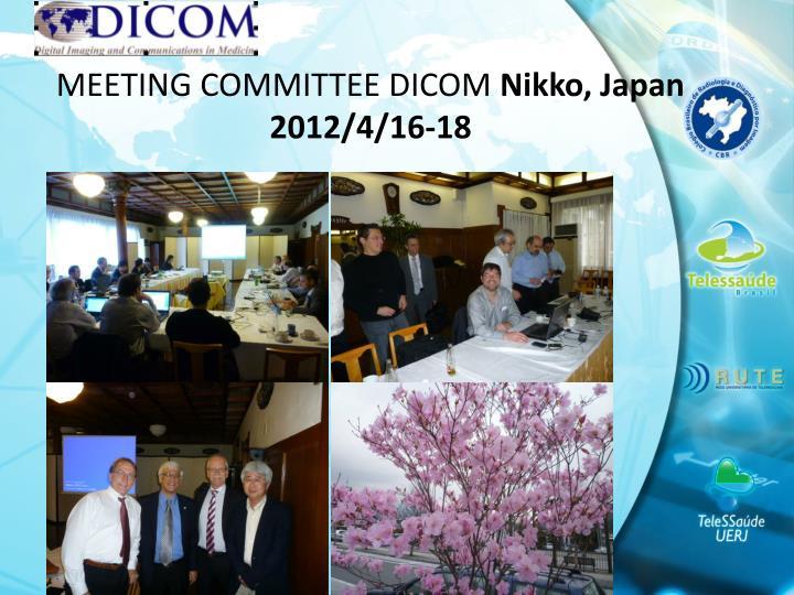 MEETING COMMITTEE DICOM