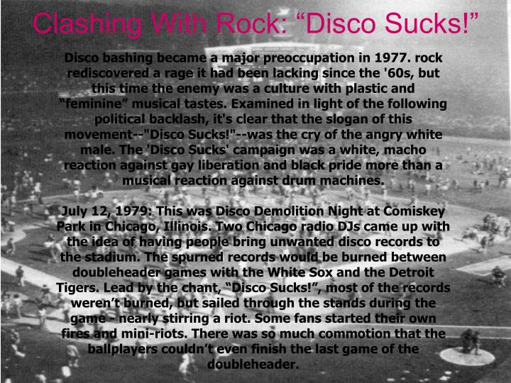 "Clashing With Rock: ""Disco Sucks!"""
