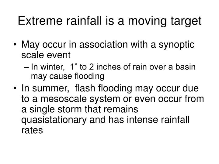 Extreme rainfall is a moving target