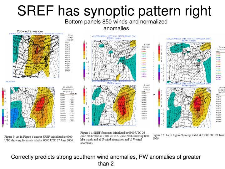 SREF has synoptic pattern right