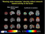 resting state networks directly reflect network based activity in the brain