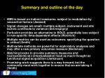 summary and outline of the day