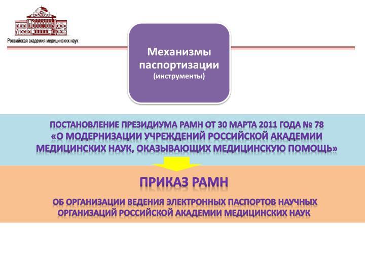 Механизмы паспортизации
