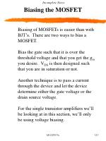 biasing the mosfet