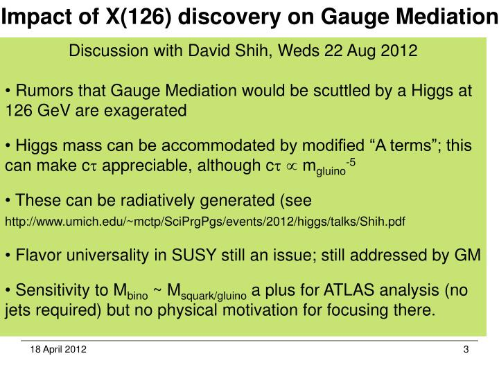 Impact of X(126) discovery on Gauge Mediation