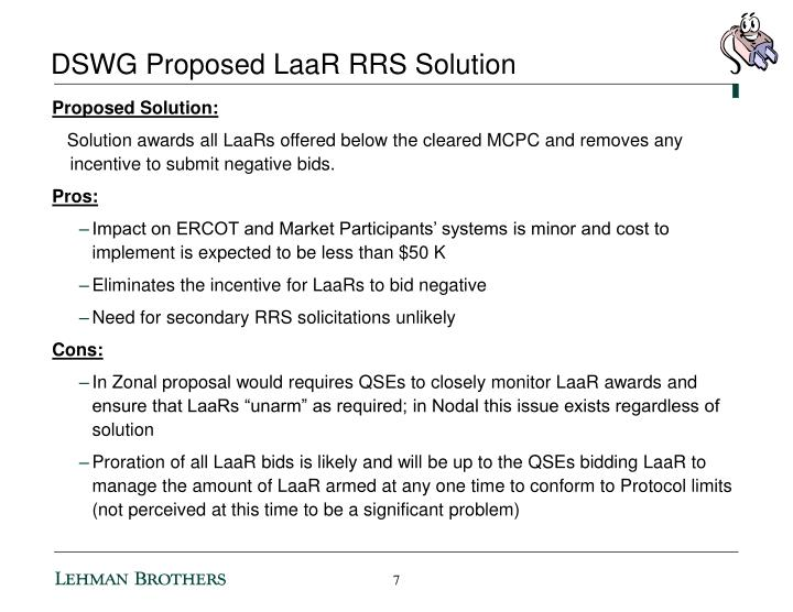DSWG Proposed LaaR RRS Solution