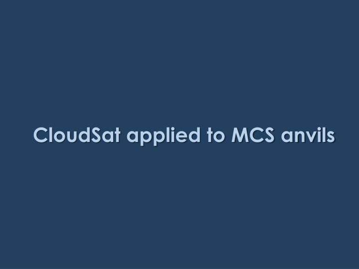 CloudSat applied to MCS anvils