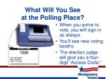 what will you see at the polling place