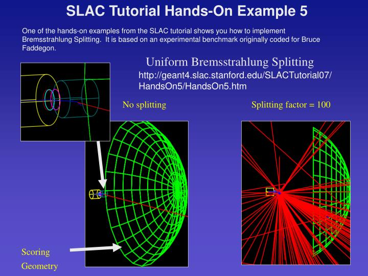 SLAC Tutorial Hands-On Example 5