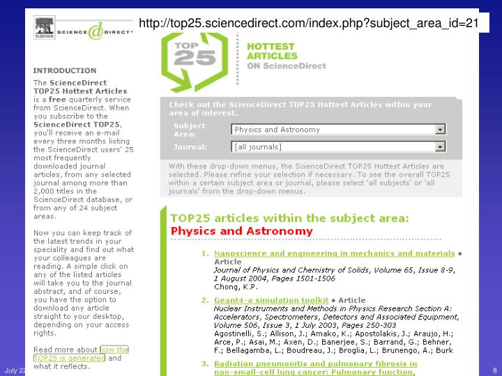 http://top25.sciencedirect.com/index.php?subject_area_id=21
