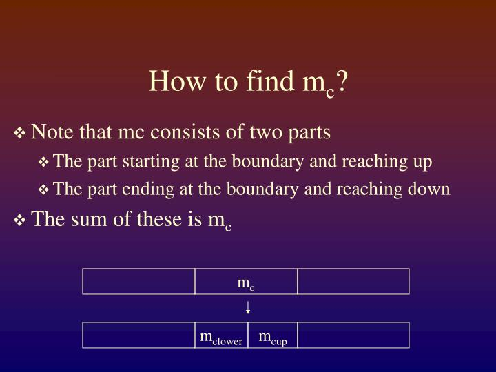 How to find m