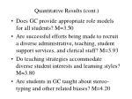 quantitative results cont