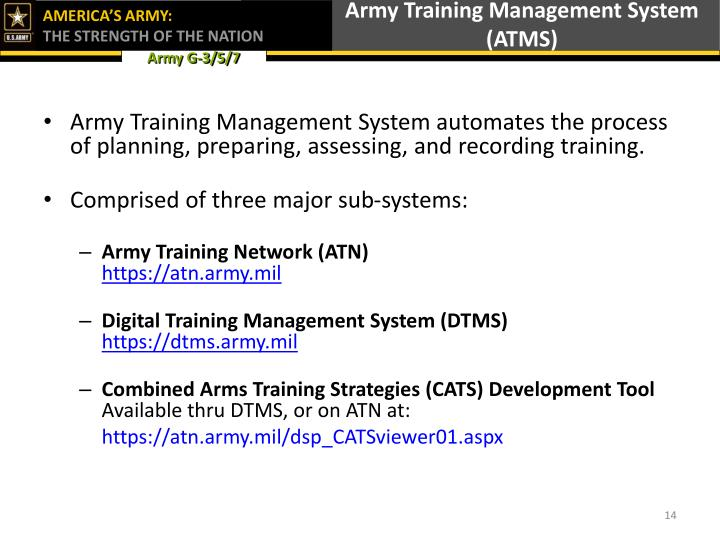 Army Training Management System (ATMS)