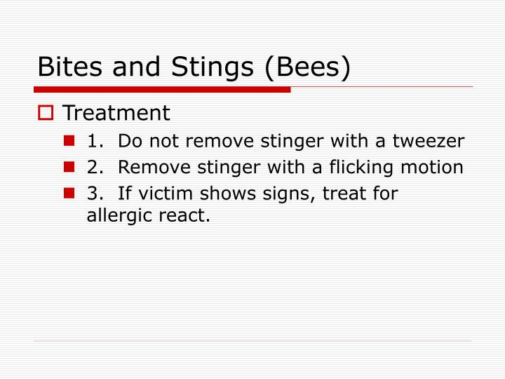 Bites and Stings (Bees)