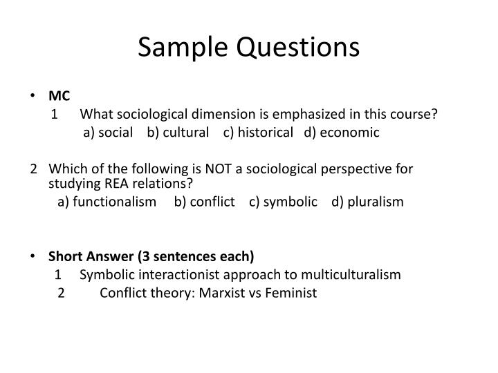 Sample Questions