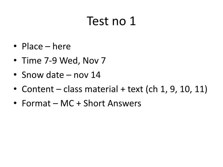 Test no 1