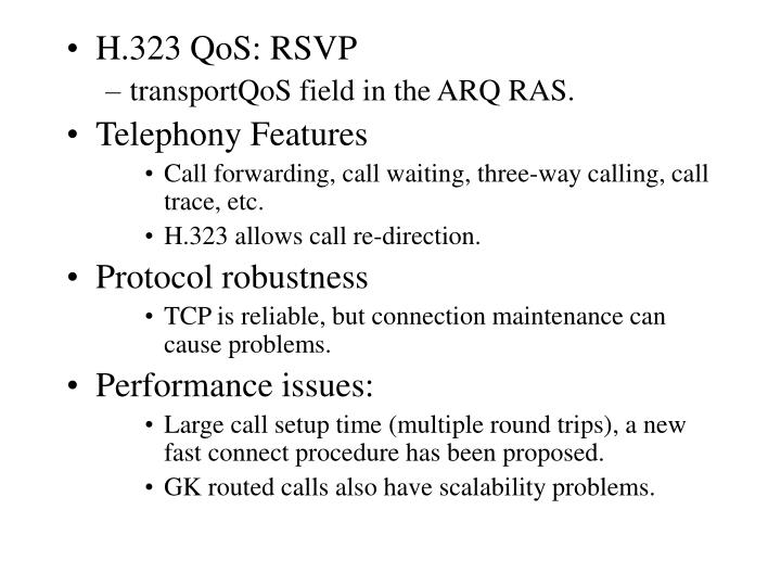 H.323 QoS: RSVP