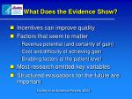 what does the evidence show