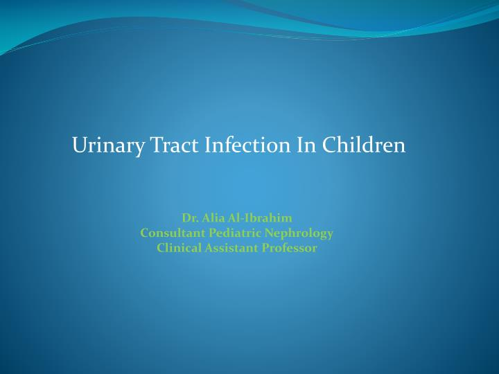 Urinary Tract Infection In Children