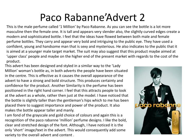 Paco Rabanne'Advert 2