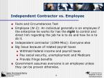 independent contractor vs employee