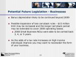 potential future legislation businesses