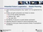 potential future legislation estate planning