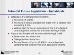 potential future legislation individuals1