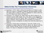sales use tax transaction scenarios