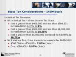 state tax considerations individuals1