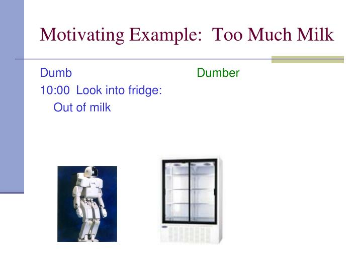 Motivating example too much milk1