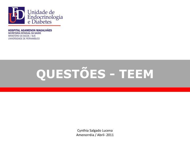 QUESTÕES - TEEM
