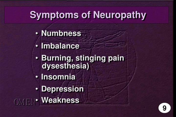 Symptoms of Neuropathy