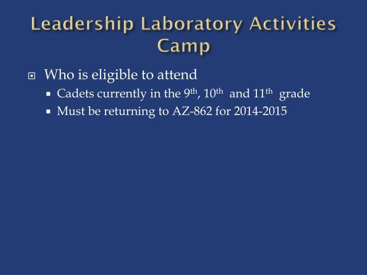 Leadership laboratory activities camp1