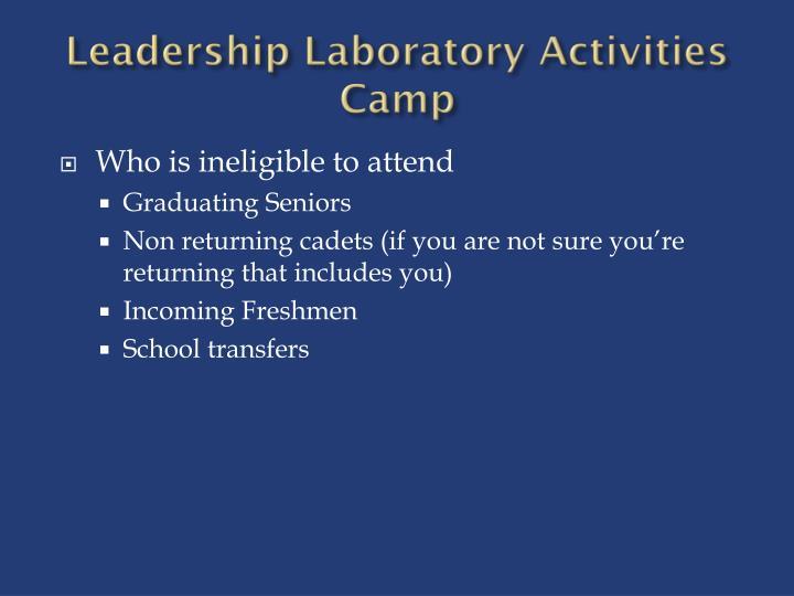 Leadership laboratory activities camp2