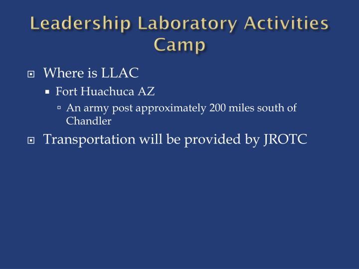 Leadership Laboratory Activities Camp