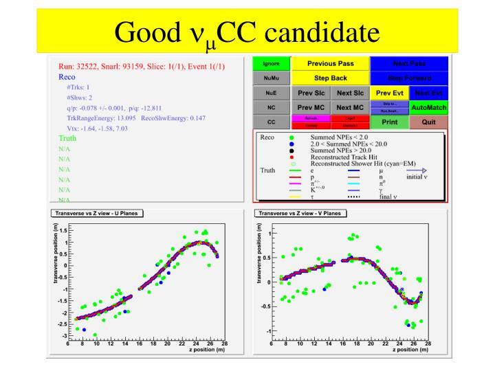 Good n m cc candidate