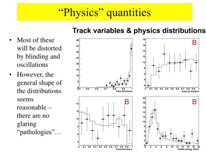 """Physics"" quantities"