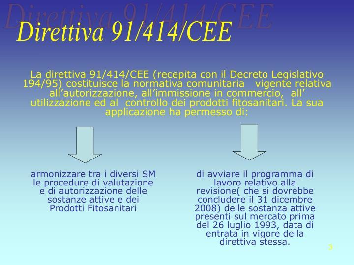 Direttiva 91/414/CEE