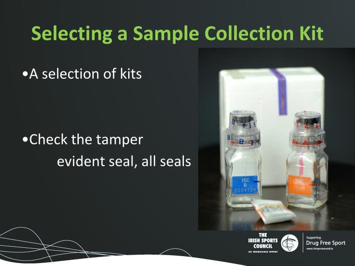 Selecting a Sample Collection Kit