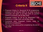 criteria ii