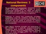 national reviews 3 components