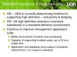 nextgen solutions requirements