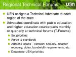 regional technical forums
