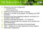 site requirements certification