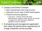support challenges for video