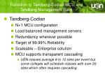transition to tandberg codian mcu and tandberg management suite
