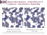 human aldose reductase semet mad at 0 9 comparison experimental vs refined map