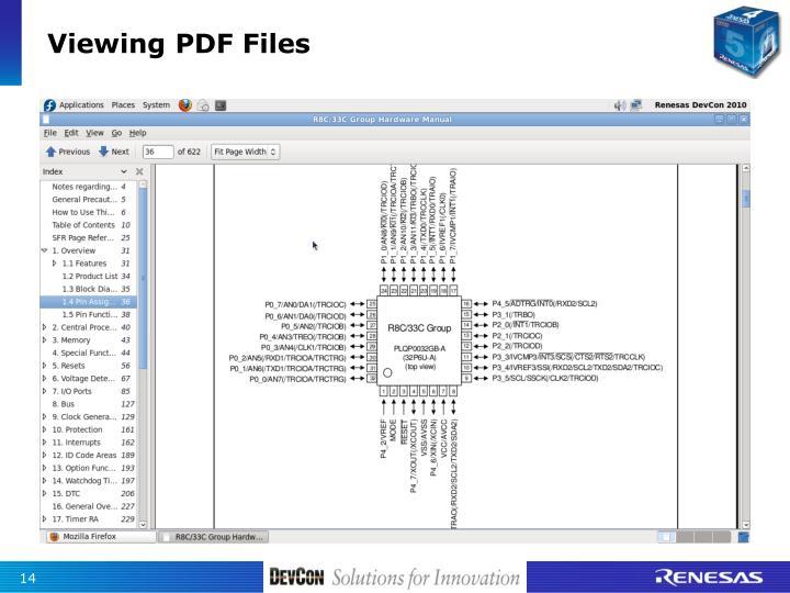 Viewing PDF Files