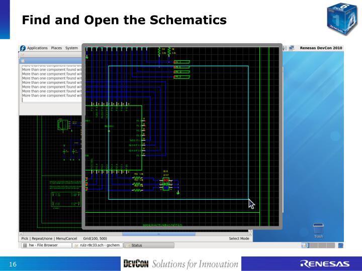 Find and Open the Schematics